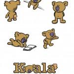 Koala diverse houdingen