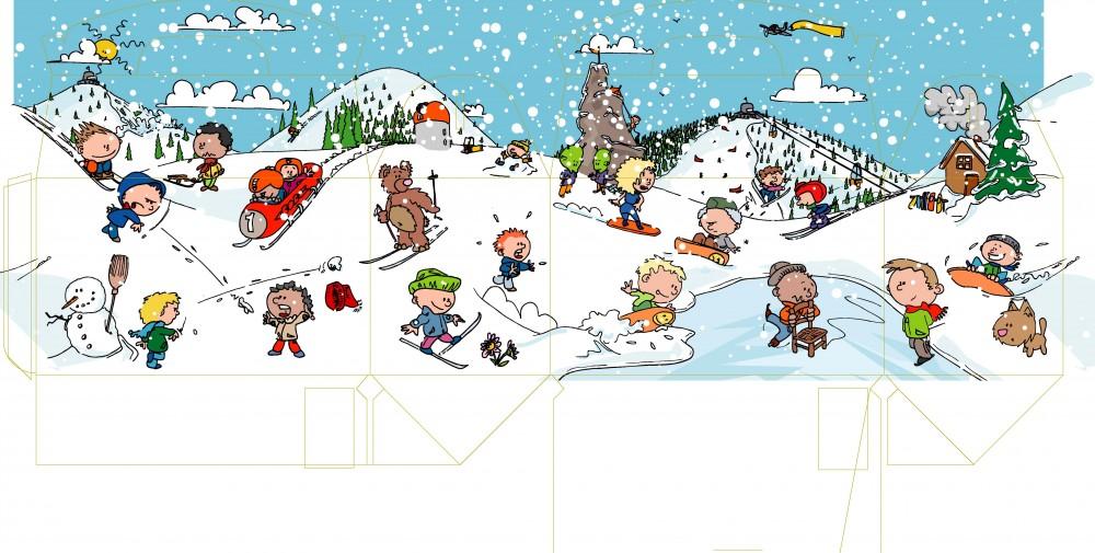 Aah comics illustratieshop winter snackboxen platteland en