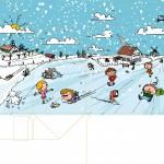 """Illustratie voor Menubox platteland, thema """"Winter"""""""